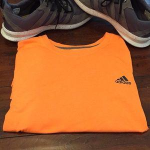 Neon orange adidas clima lite XL shirt